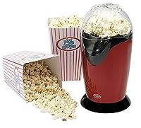 American Originals EK0493 Healthy Fat-Free Electric Hot Air Popcorn Maker, 1200 W, Red