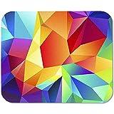 Tappetino per mouse da gioco Forme geometriche colorate Tappetino per mouse da gioco in gomma antiscivolo su misura rettangolare