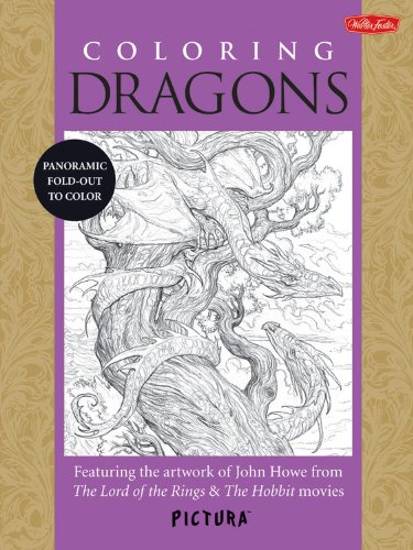 Coloring Dragons /Anglais (Pictura)