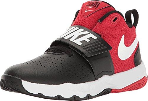Nike Nike Team Hustle D 8 (Ps) - black/white-university red, Größe:10.5C - Nike 8 Größe Kinder, Schuhe Für