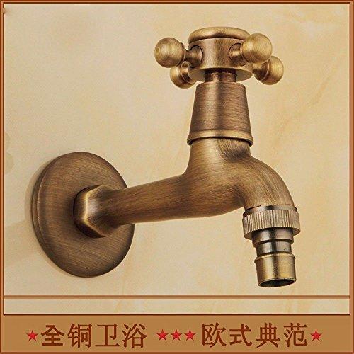 Mmynl rubinetto bagno lavabo rubinetto moderno becco dell'erogatore della lavatrice dell'oggetto d'antiquariato di rame spazzolato a mano europeo del becco, d rubinetto per lavandino bagno