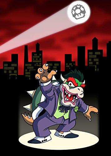 Clown Criminal Villain Video Spiel & Bat Super Hero Parodie-Rechteck Kühlschrank Magnet