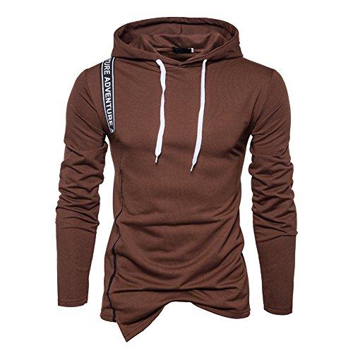 Outwear Männer Hoodie Sweatshirt Kapuzenpullover Sportbekleidung Kaffee Medium (Kaffee-hoodie)
