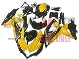 LoveMoto Verkleidung für GSX-R600 GSX-R750 K8 2008 2009 2010 08 09 10 GSXR 600 750 ABS Spritzguss Kunststoff-Motorradverkleidung-Sets Gelb Schwarz