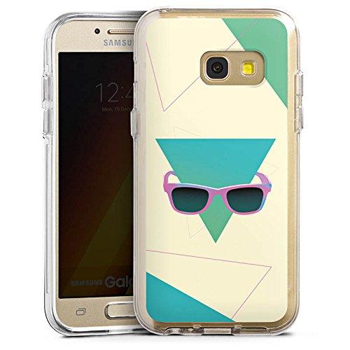 DeinDesign Samsung Galaxy A3 2017 Bumper Hülle Bumper Case Schutzhülle Hipster Dreieck Sonnenbrille