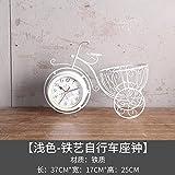 MAFYU Office Desktop-Uhr Eisen Fahrrad Korb Handwerk Geschenk Dekoration Ornamente