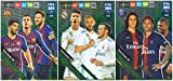 PANINI ADRENALYN XL FIFA 365 2019 Komplettes Set von DREI (3) Attacking Trio Karten – PSG, FC Barcelona, Real Madrid