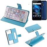K-S-Trade Flipcover für Allview X4 Soul Vision Schutz Hülle Schutzhülle Flip Cover Handy case Smartphone Handyhülle blau