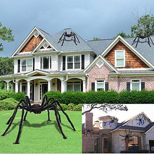 Halloween Spinne Dekorationen große gefälschte haarige Spinne beweglich Riesenspinnen heikles Spielzeug Spukhaus Hof Outdoor-Dekor beängstigend Halloween Thema Party Dekoration Lieferungen 59 Zoll