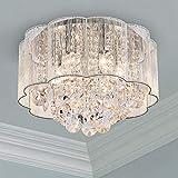 Cristal moderno Raindrop Araña Iluminación Montaje empotrado Lámpara de techo de techo Lámpara colgante para el comedor Cuarto de baño Dormitorio Salón Diámetro 40 cm Altura 30 cm