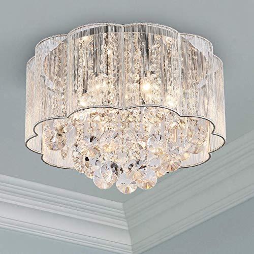 Cristal moderno Raindrop Araña Iluminación Montaje empotrado Lámpar