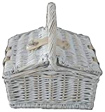 Red Hamper PR016/Home Provence mini Farmhouse Empty picnic basket, marrone, 19 x 26 x 16 cm