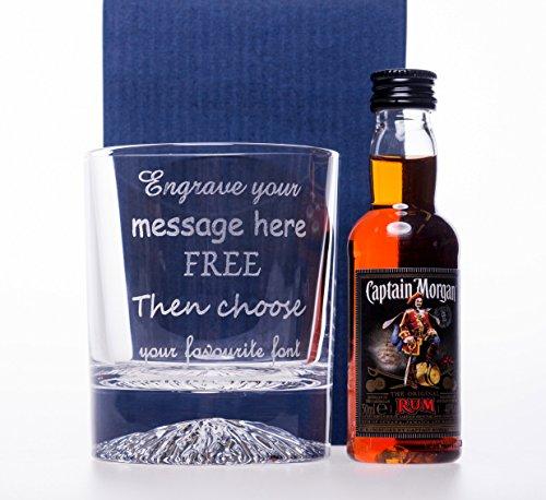 laser-engraved-personalised-alaska-glass-tumbler-captain-morgan-miniature-gift-set-for-christmas-dad