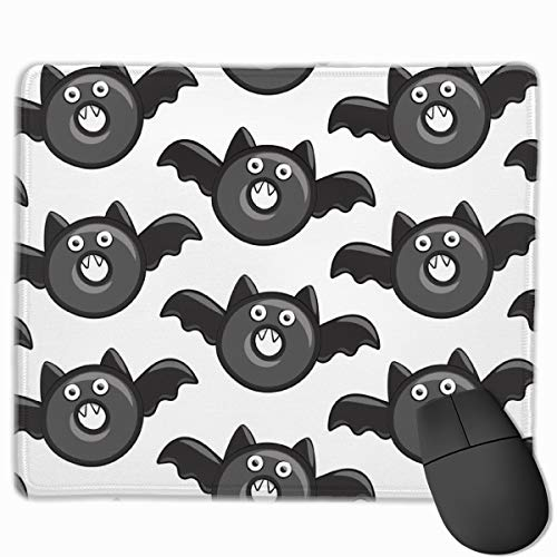 Bat Vampire Halloween Donuts Personalized Mouse Pad - Add Pictures, Text, Logo Or Art Design and Make Your own Customized Mousepad.11.8 x 9.8 Inch