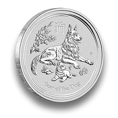 Silbermünze LUNAR II 2018 Jahr des Hund - Year of the Dog - 1 Unze Silber - einzeln gekapselt