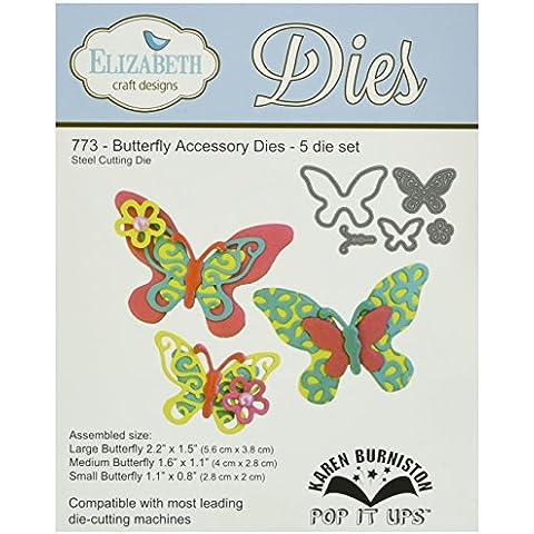 Elizabeth Craft e Pop-Up Metal stampi di Karen Burniston-farfalla accessorio