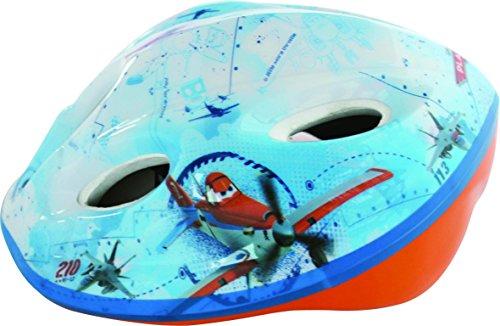 Disney Jungen Plane Fahrradhelm für Kinder, Blau/Weiß, M, 35640