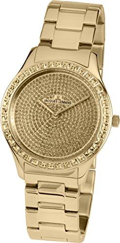 Jacques Lemans Reloj Multiesfera para Mujer de Cuarzo con Correa en Acero Inoxidable Macizo 1-1841ZK
