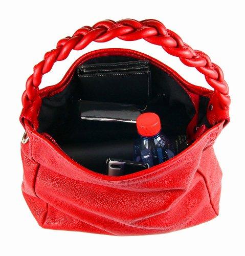 OBC Made in Italy Vera Pelle Vera Pelle Borsa Shopper Borsa con manici Borsa Tracolla Borsa A Tracolla Borsa Tutti I Giorni 40x28x11 cm Rosso