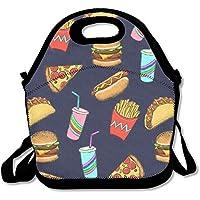 Preisvergleich für Hot Dog Fast Food Geschenk Wasserdicht Lunch Tasche Isoliert wiederverwendbar Picknick Lunch-Boxen für Männer Frauen Kinder