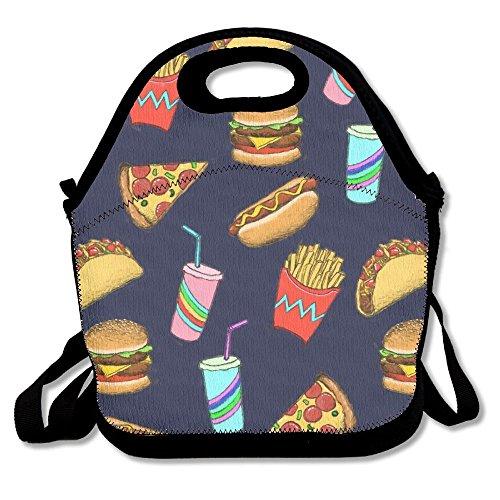 Hot Dog Fast Food Geschenk Wasserdicht Lunch Tasche Isoliert wiederverwendbar Picknick Lunch-Boxen für Männer Frauen Kinder