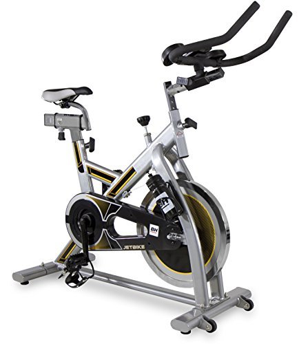 BH Fitness Jet Bike H9158RF, vélo de biking, volant d'inertie 20 kg, Transmission courroie Poly-V
