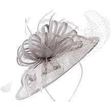 Tocado con Plumas y Velo by McBURN sombrero de noviasombrero de ocasión especial sombrero de novia