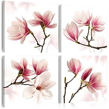 klebefieber leinwandbild magnolien spruch b x h. Black Bedroom Furniture Sets. Home Design Ideas