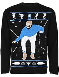 MIXLOT Drake unisexe Pull en maille Bling truand Drake Festive Pull Taille S / M, M / L