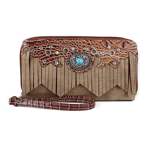 Blancho Tote Western Fringe Wallet Handtasche Tan Farbe