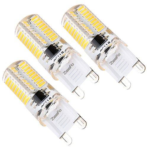 ZEEFO G9 LED Birnen, Dimmbare 4 Watt Warm Weiß 3000K LED Glühbirnen Bi-Pin Sockel (35W Halogen G9 Glühbirnen gleichwertig), AC 230V für Deckenleuchten, Kronleuchter, Innenbeleuchtungen (3er Pack)