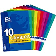 Oxford Office Openflex 100102627 Exercise Book Polypropylene 96 Pages Pack of 10 21 x 29.7 cm