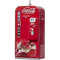 Kurt Adler Coca-Cola Vending Machine with Santa Ornament #CC1162 by Kurt Adler