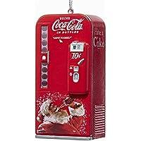 Kurt Adler Coca-Cola Vending Machine with Santa Ornament #CC1162 by Kurt Adler