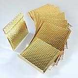 EPOSGEAR 10 x Gold CD 165 mm x 165 mm Metallisch Glänzend Folie Bubble Gepolsterte Umschlage
