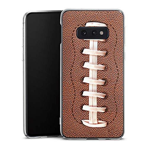 DeinDesign Hülle kompatibel mit Samsung Galaxy S10e Handyhülle Case American Football Lederstruktur Leder