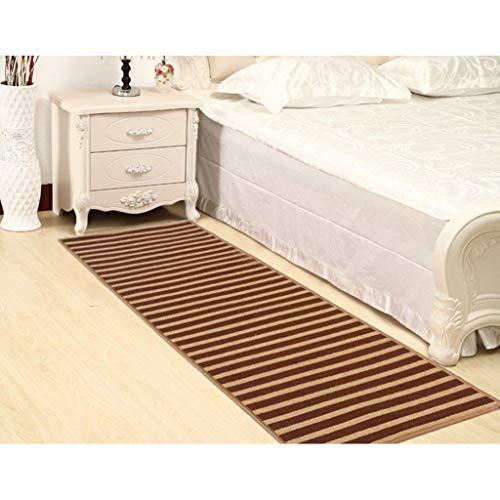 DTDTGXQ Innenteppich Gestreifte Küche Teppich Badezimmer Schlafzimmer Tür Tür Teppich Vliesstoffe Schmutzig Decke,50 * 120cm
