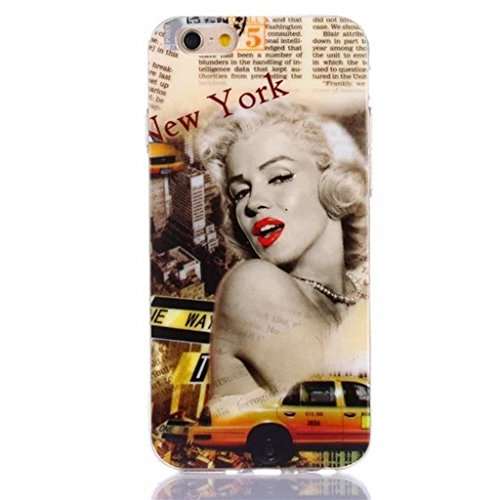 "Gift_Source iPhone 6 4.7"" hülle, iPhone 6 4.7 inch hülle, Weich Schutzhülle Gel TPU Silikon Case Dünnes Etui für Apple iPhone 6 4.7 inch [ Bite me ] E01-01-new York"
