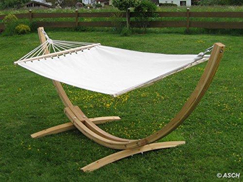 Amaca XL deluxe nobile 320cm con cornice in legno larice mod. 'Blanca'