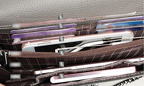 Sacchetto di mano, sacchetto di mano femminile, cartella di grande capacità di cuoio di tendenza di modo, pacchetto di pranzo di banchetto ( Colore : Arancia ) Marrone