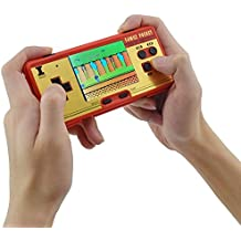 Retro Video Game ,2.8Inch Screen Classic FC Pocket Retro Video Game Console Handheld Game Console Built -in 638 Games Can Take The Joysticks Double Player (RED)