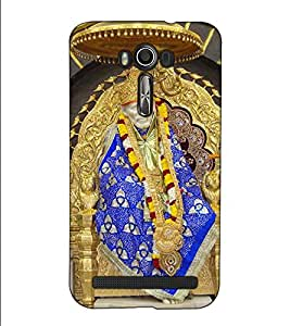 Fuson Designer Back Case Cover for Asus Zenfone 2 Laser ZE601KL (6 Inches) (Saibaba Pratishthan theme)