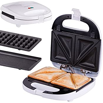 hoberg multi star 3 in 1 waffeleisen sandwichmaker und kontaktgrill mit ceraslide. Black Bedroom Furniture Sets. Home Design Ideas