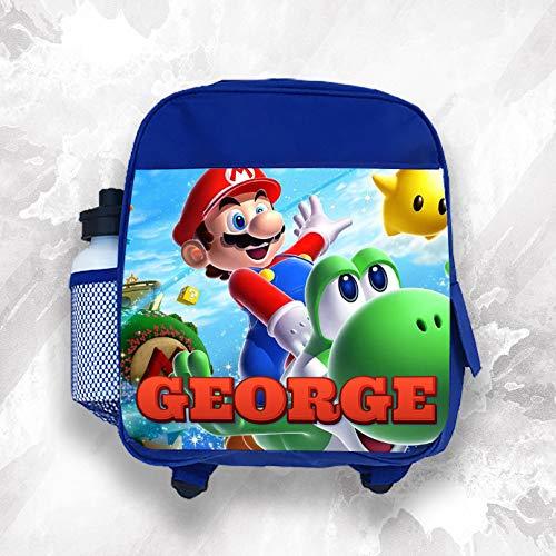 Personalisierbarer Kinder-Rucksack mit Namen Mario Jungen Kinder Schultasche