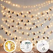 10m 100 LED 8 Modes Battery and USB Operated Photo Clip Fairy String Light for Hanging Pictures, Cards, Memos