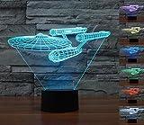 Lmeison 3d Optische LED lampen ,7kleuren knipperende kunst sculptuur lichten, atmosphere lamp met USB Cable