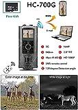 YTLJJ Caméra de Chasse 3G GSM Infrarouge Invisible 16MP 1080P HD Trail Caméra SMS MMS avec Sécurité 940nm No Glow LEDs Vision Nocturne Infrarouge activé 65ft/20m, Comprend Une Carte SD 32G