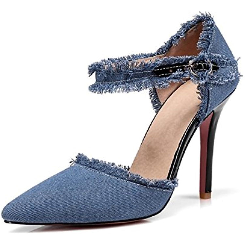 DIMAOL Chaussures Pour Femmes Denim Printemps Eacute;t eacute; Nouveaut Base eacute; Pompe de Base Nouveaut Talons Talon Chaussures Pour B07B2ZR8Y2 - 1b67bb