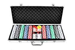 FA Sports Pokerkoffer Casino Ocean 500 Poker Chip Set, Silber, 58 x 24 x 7.5 cm, 910