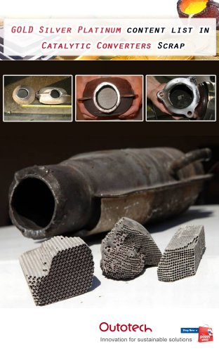 Catalytic Converters scrap. Gold Silver Platinum recovery.